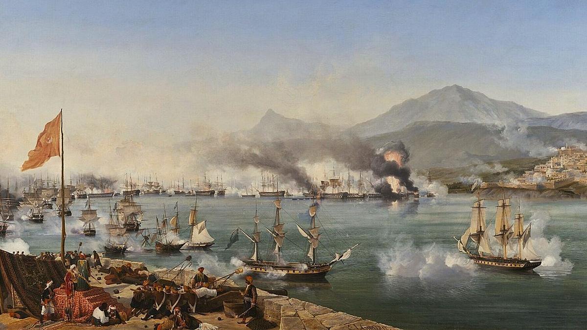 Batalla de Navarino (1827).