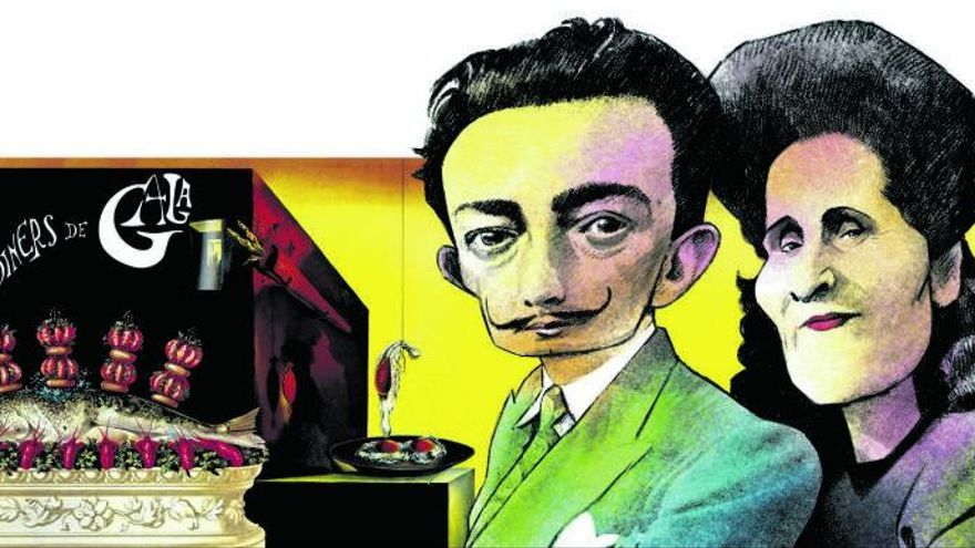 En la mesa con Dalí