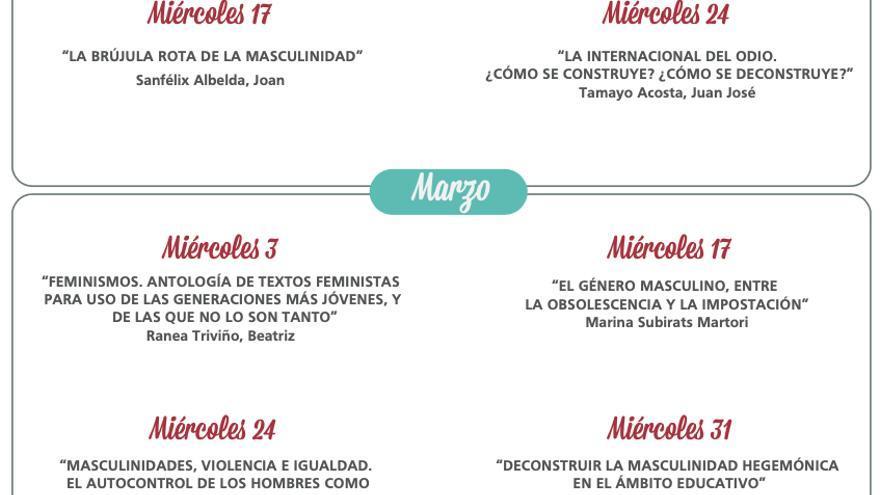 """Seminarios """"conversatorios"""" sobre masculinidades en la Universidad de Elche"""