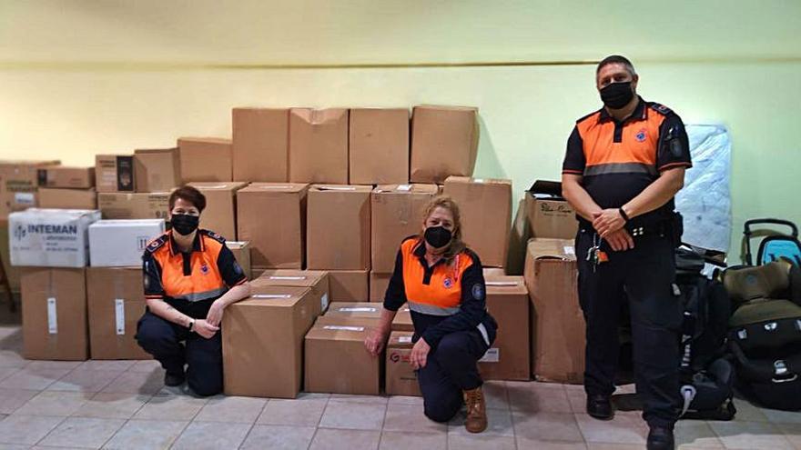 Culleredo reúne 1,5 toneladas de artículos de primera necesidad para los afectados por el volcán