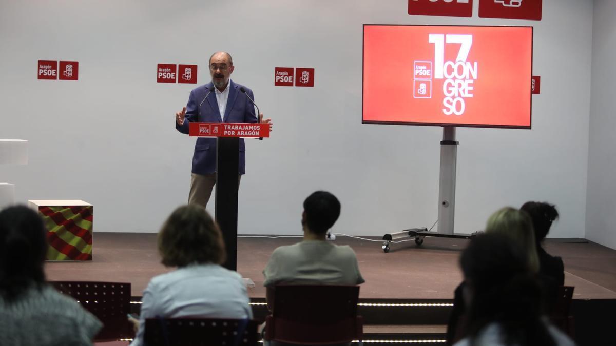 El secretario general de los socialistas aragoneses revalidará su mandato en el próximo Congreso Regional que se celebrará los días 6 y 7 de noviembre.