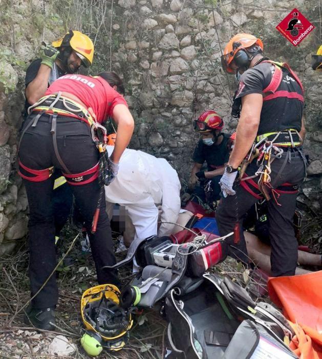 Rescate de un hombre en Benilloba