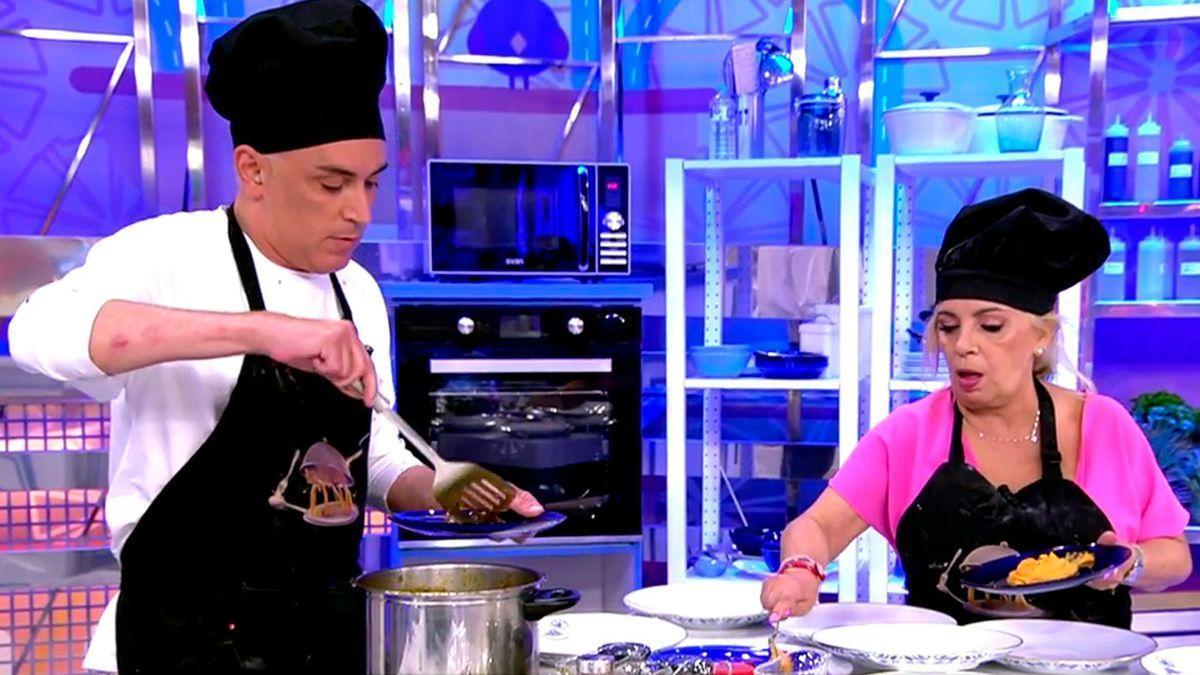 Carmen Borrego, a punto de abandonar 'La última cena' por los insultos de Kiko Hernández.