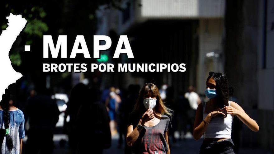 MAPA: ¿Dónde están los brotes del coronavirus en la Comunidad Valenciana?