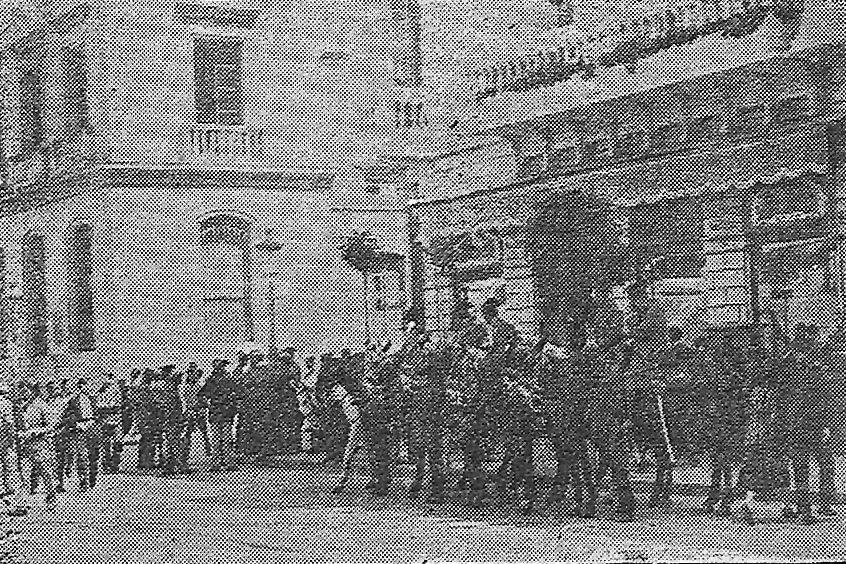 Fuerzas de seguridad en la plaza de las Tendillas