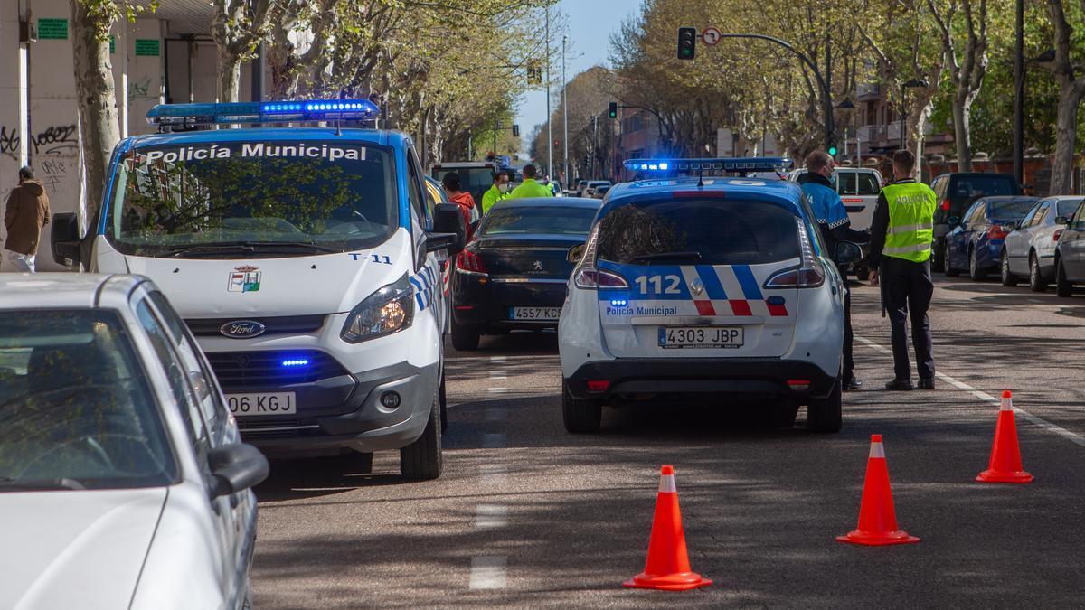 Patrulla Policía Municipal en Zamora
