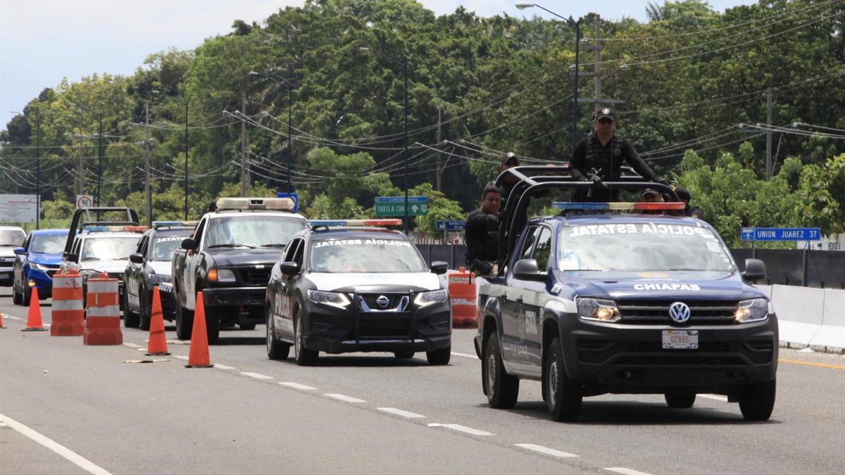 Vehículos de la Policía Federal de México.