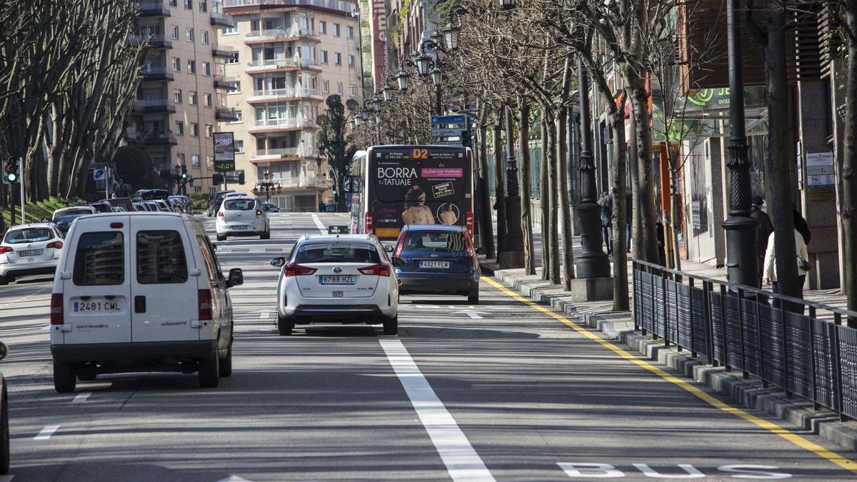 Carril bus de la calle Toreno.