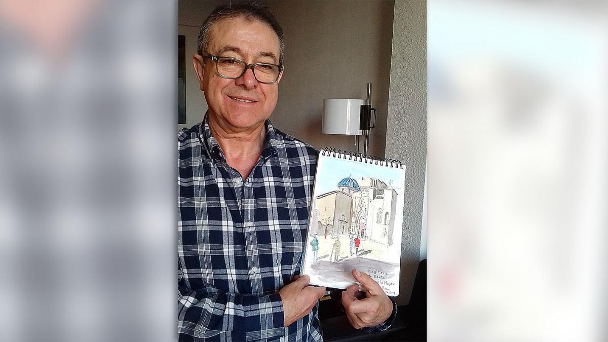 Recupera su cuaderno de dibujos gracias al alcalde de Morella