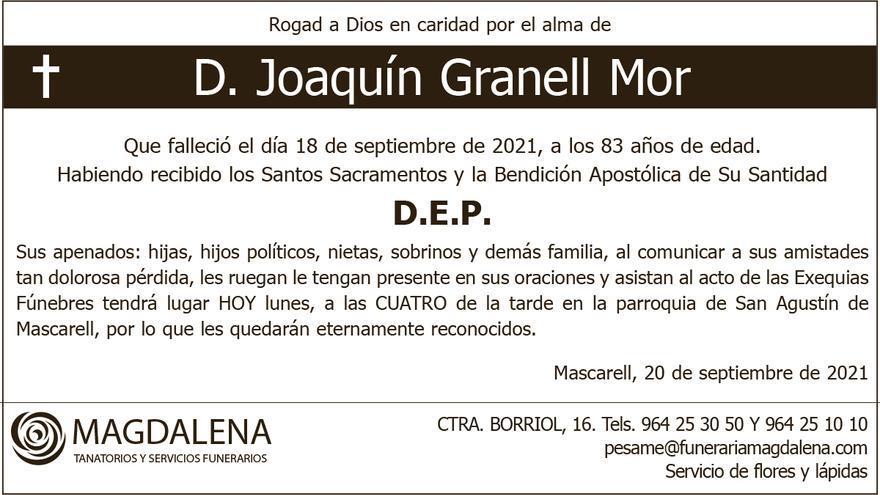 D. Joaquín Granell Mor