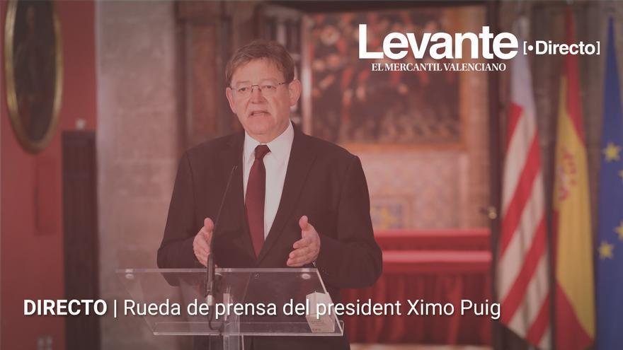 Ximo Puig comparece tras la XXII Conferencia de Presidentes