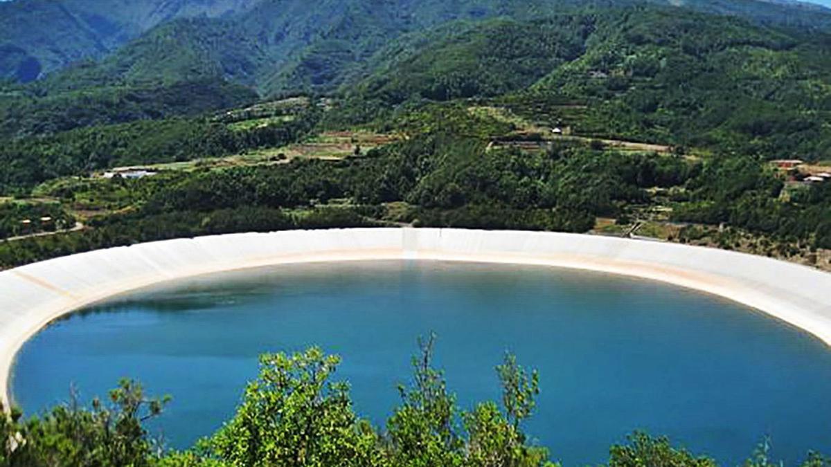 Balsa de La Laguna de Barlovento.