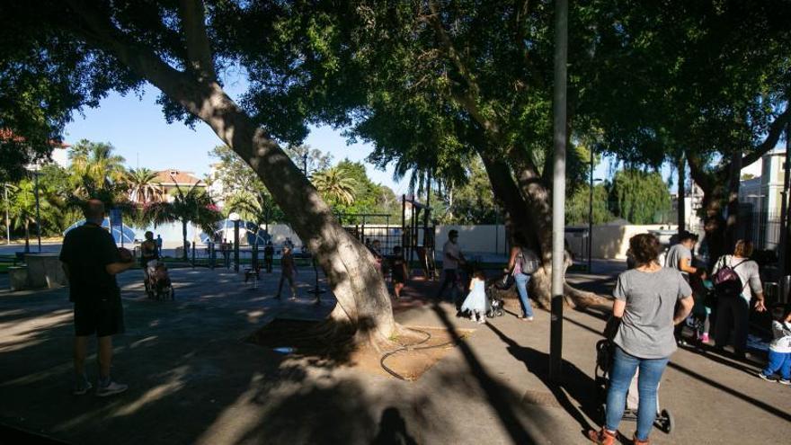 Parque Secundino Delgado, en el barrio Salamanca