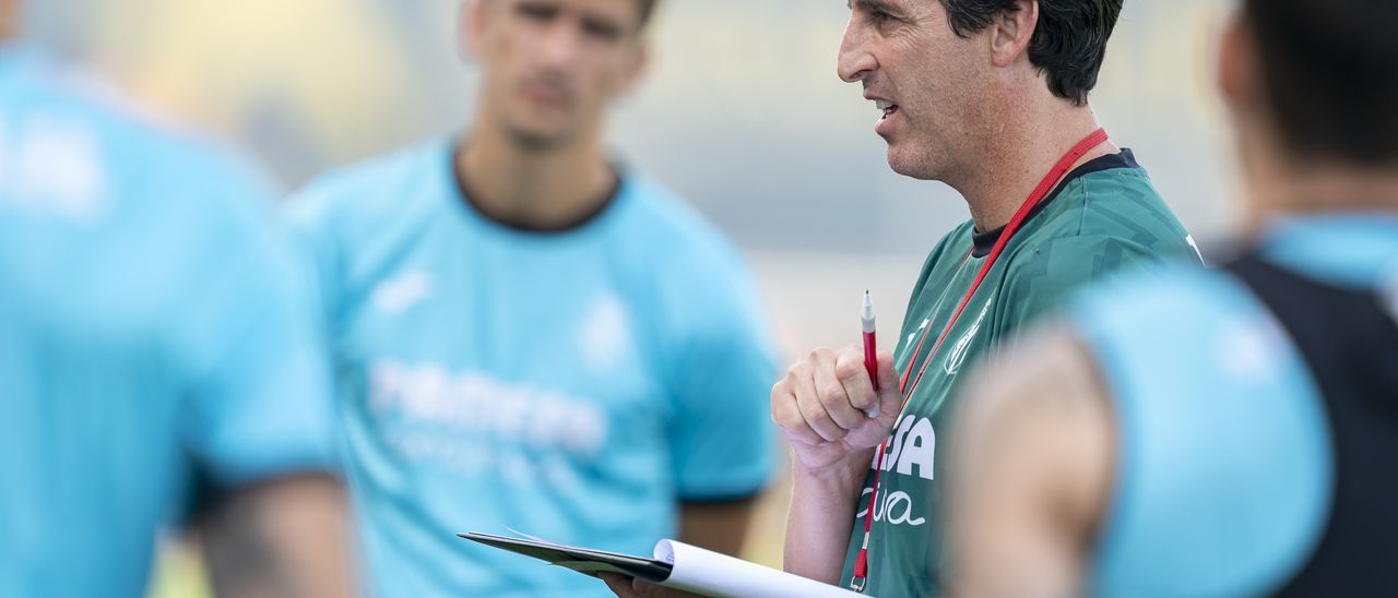 Unai Emery, entrenador del Villarreal CF.
