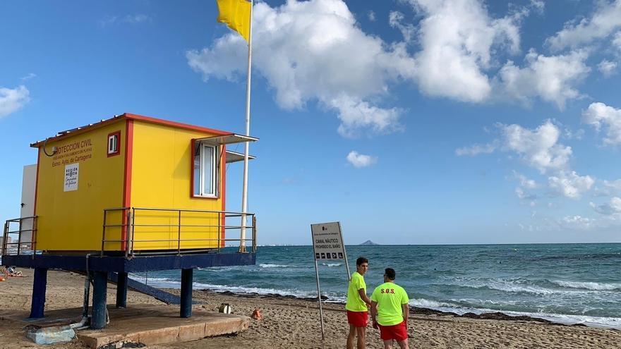 Bandera amarilla este sábado en todas las playas de Málaga capital