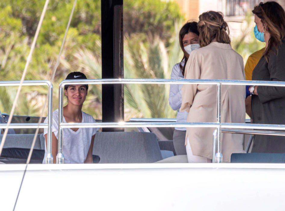 Rafa Nadal y Mery Perelló inspeccionan su nuevo barco