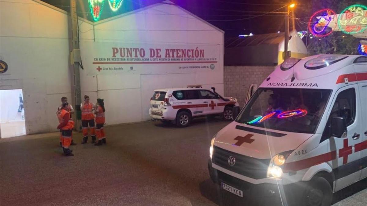 Cruz Roja realizó 21 asistencias anoche en la feria de Badajoz