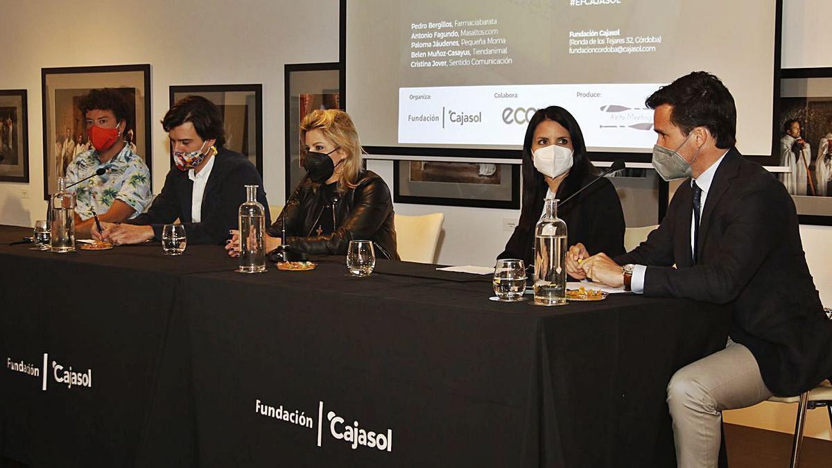 Los ponentes de las jornadas de la Fundación Cajasol, que reunieron a empresarios andaluces en Córdoba.