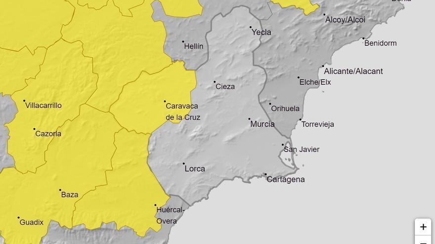 Tiempo en Murcia: Aviso amarillo por tormentas mañana en el Noroeste