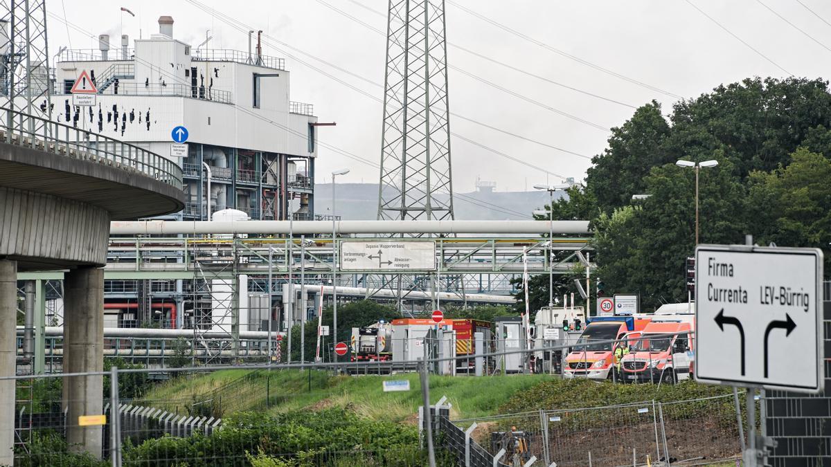 La planta de Leverkusen donde se ha producido la explosión.