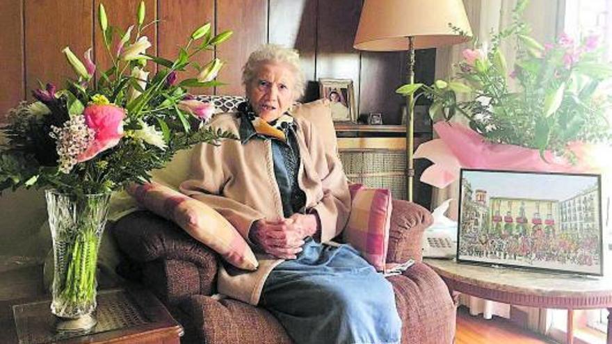 L'exprofessora de la Renaixença de Manresa Mercedes Oronoz  fa 100 anys
