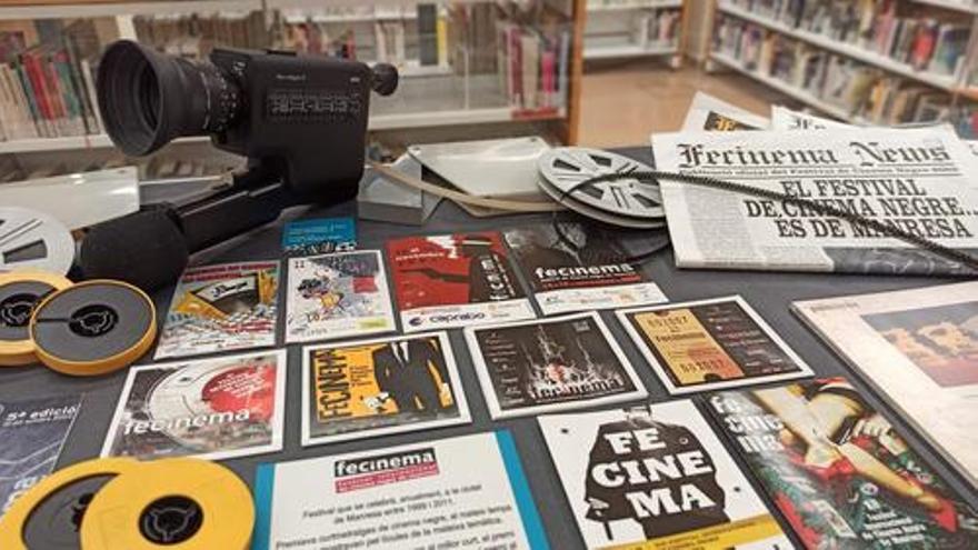 L'exposició 'Manresa, ciutat de cinema' es mostra a la Biblioteca del Casino