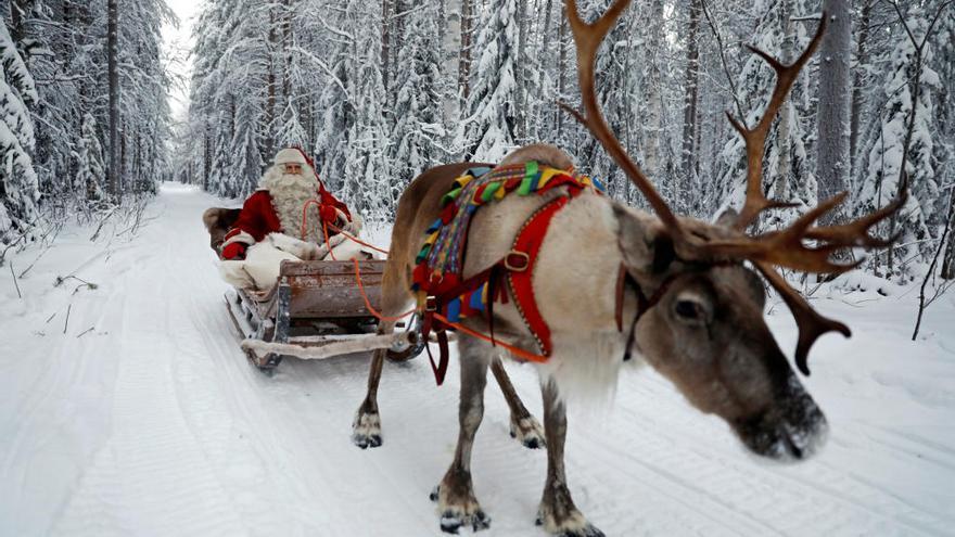 Papá Noel, de camino a Teulada-Moraira