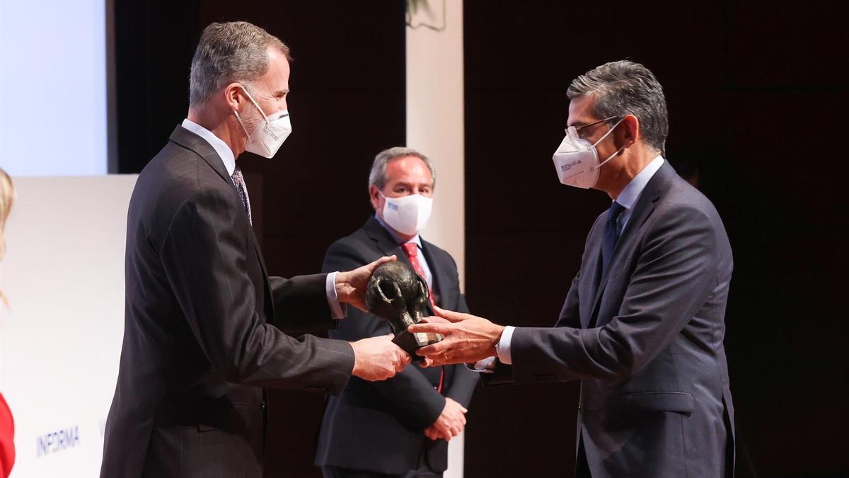 El Rey Felipe VI durante la entrega de la VII Edición de los Premios Cepyme.