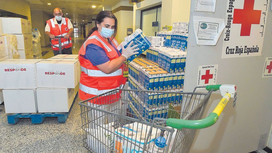 Cruz Roja atendió desde marzo de 2020 el doble de ayudas alimentarias que en 2019