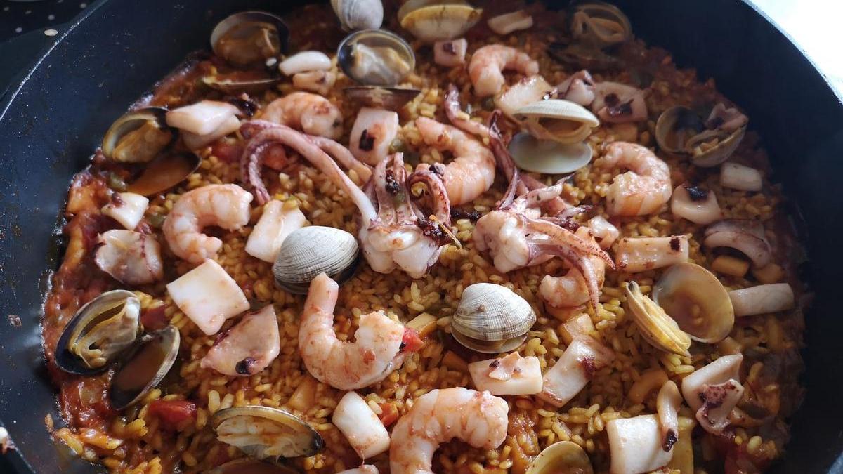 Un arroz con marisco
