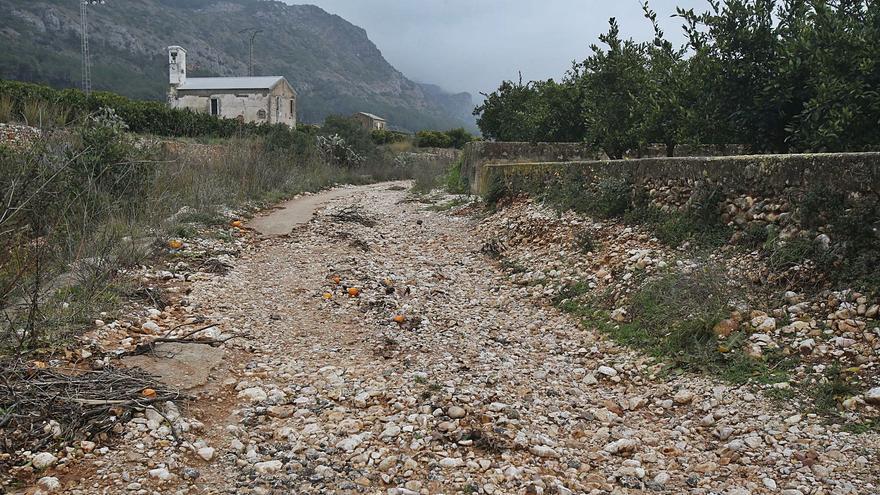 La Casella cuadruplica            la lluvia de Alzira pese a   estar a solo 8 kilómetros