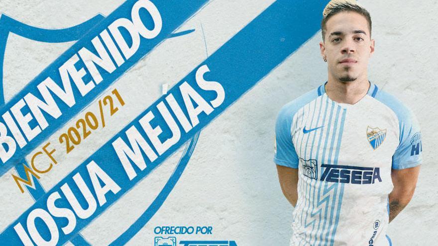 Josua Mejías llega al Málaga CF