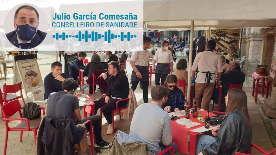 Declaraciones del Conselleiro de Sanidade, Julio García Comesaña, el primer día de la desescalada