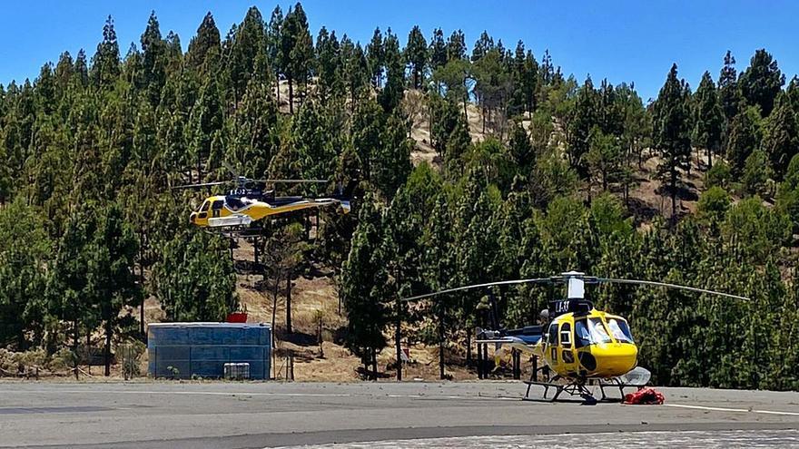 El gobierno insular proyecta una ampliación de la base de helicópteros