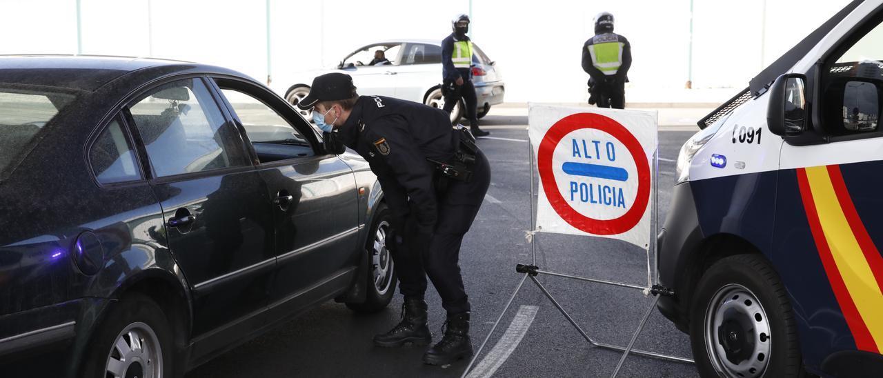 Controles en Gijón.