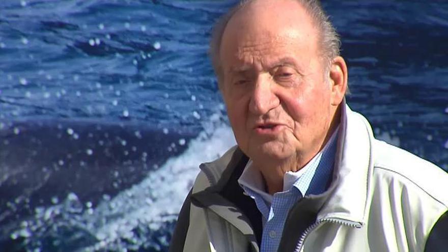 El rey Juan Carlos reaparece en Sanxenxo tras su operación de corazón