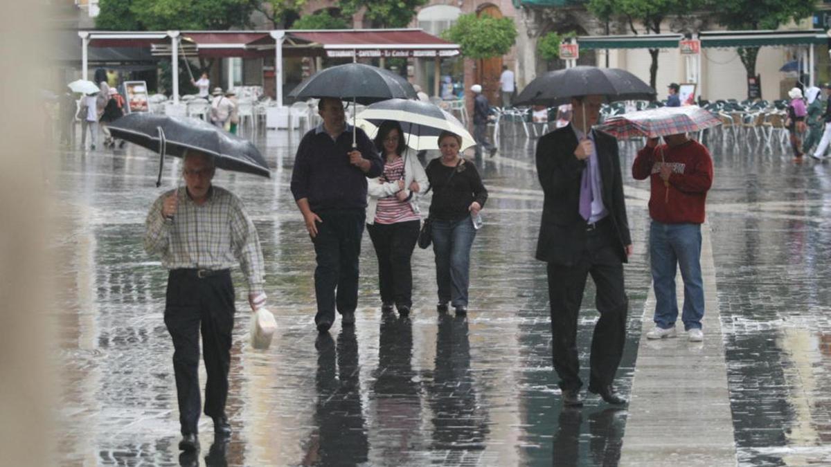 Lluvia en Murcia (archivo).