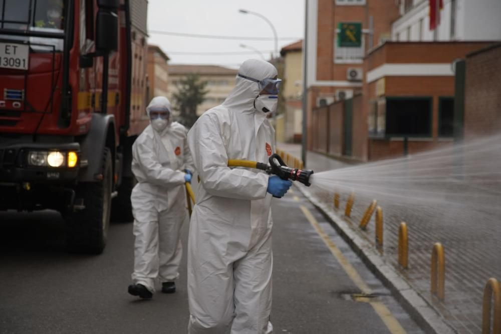 La UME se despliega por Zamora ante la crisis por coronavirus