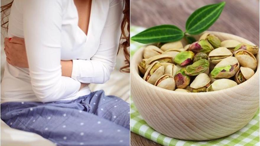 Pistachos, un remedio natural contra el dolor menstrual