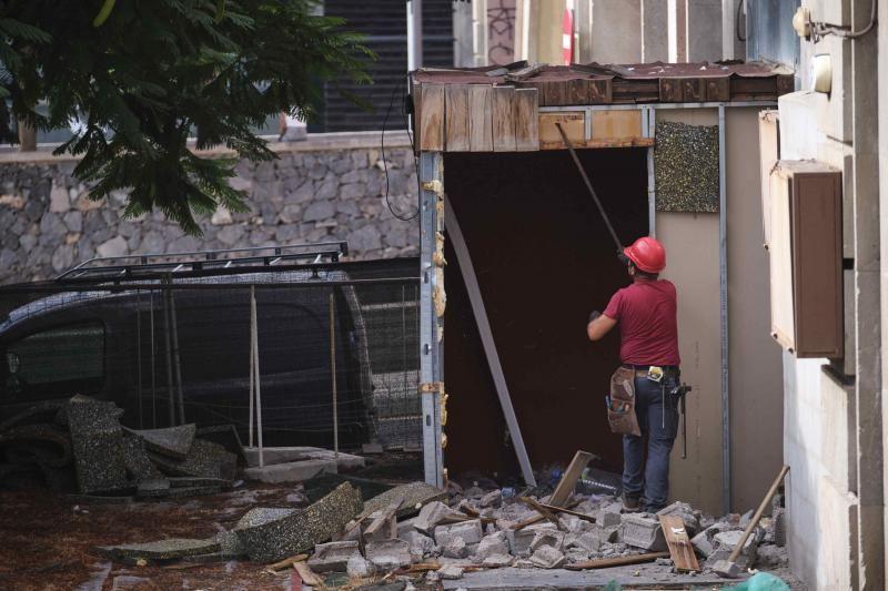 Inicio obras demolición Arcos de la Noria, en Santa Cruz de Tenerife