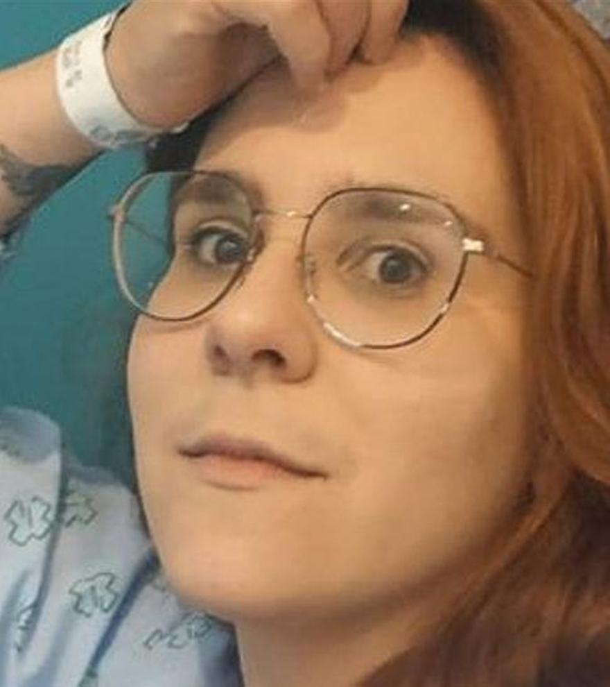 Sara Viéitez, en la habitación del hospital