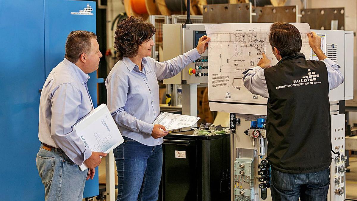 Trabajos en la fábrica de Nutai, una de las empresas implicadas en el proyecto. | LEVANTE-EMV