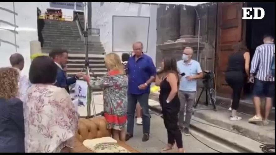Bertín Osborne y Lydia Lozano graban en La Palma