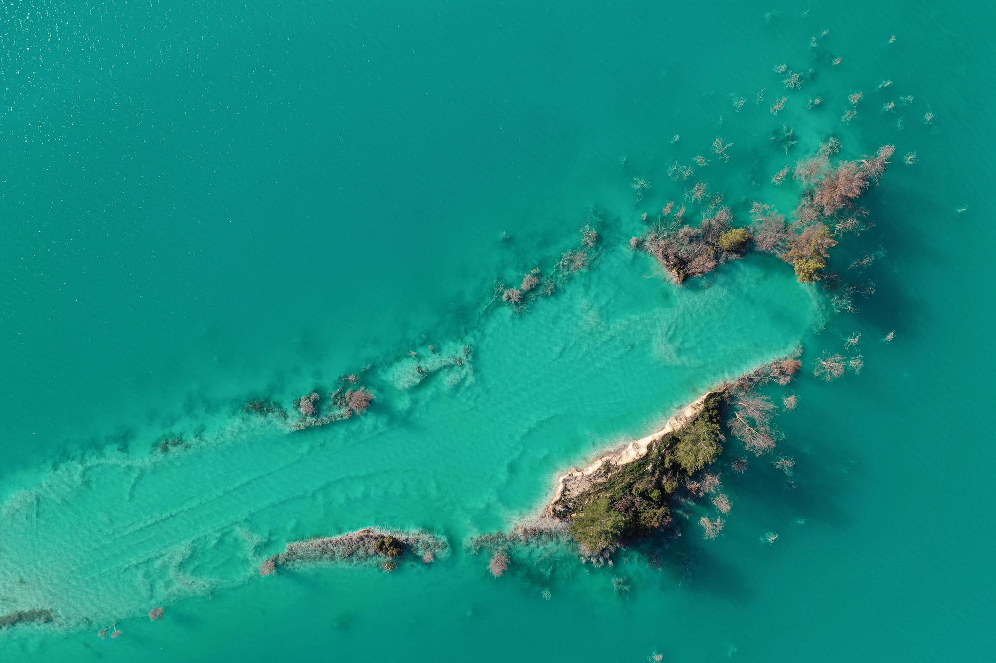 Vista aérea del que se conoce como 'El lago tóxico', en Turquía