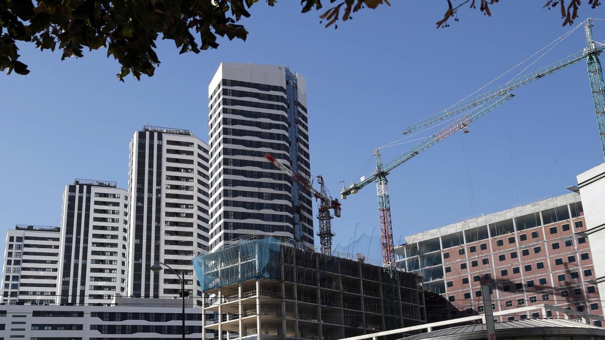 Viviendas en construcción en Bilbao