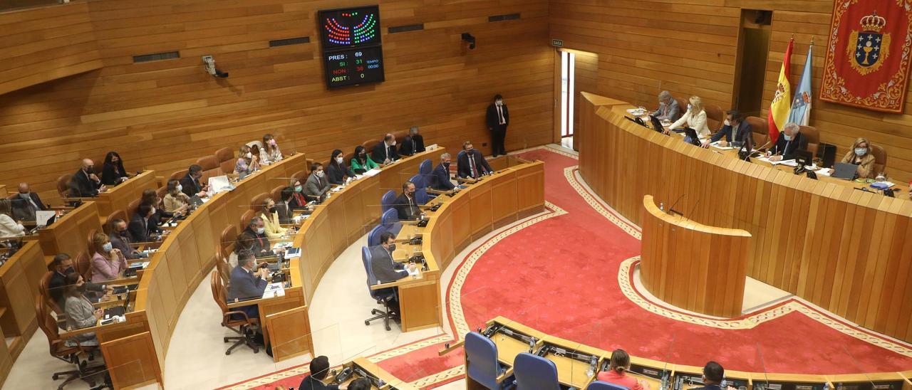 Votación a favor de la universidad de Abanca.