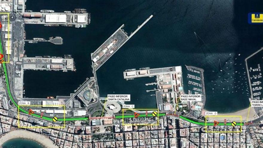 La Avenida Marítima cierra parcialmente hasta el jueves