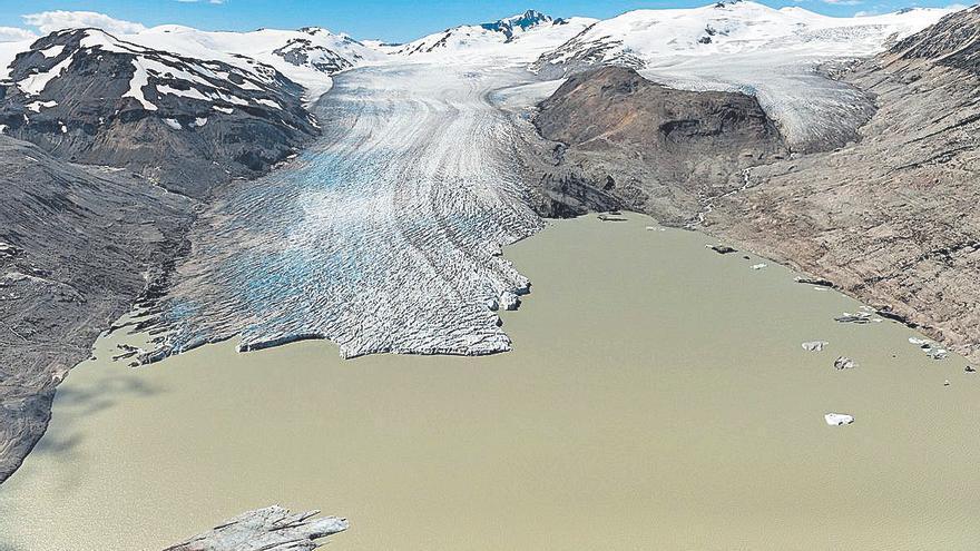 Los glaciares mueren por el calentamiento global