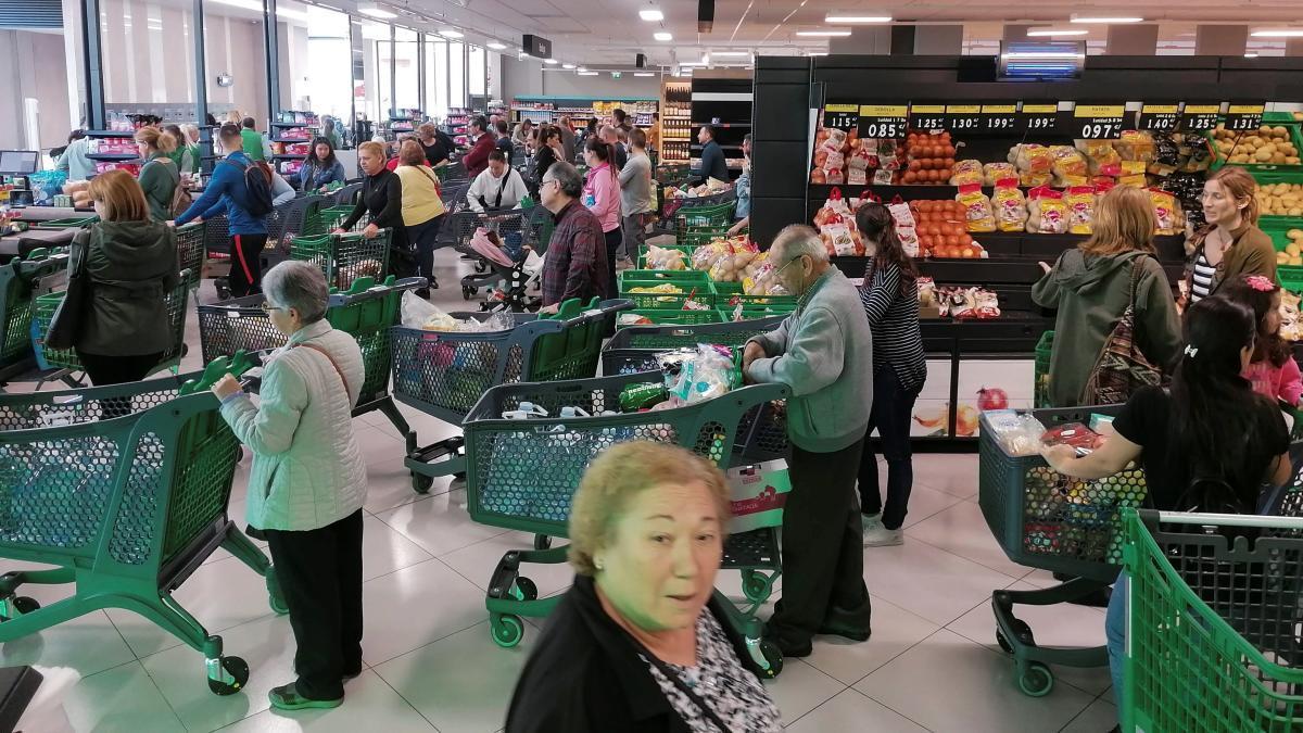 Interior de un supermercado de Mercadona de Murcia.