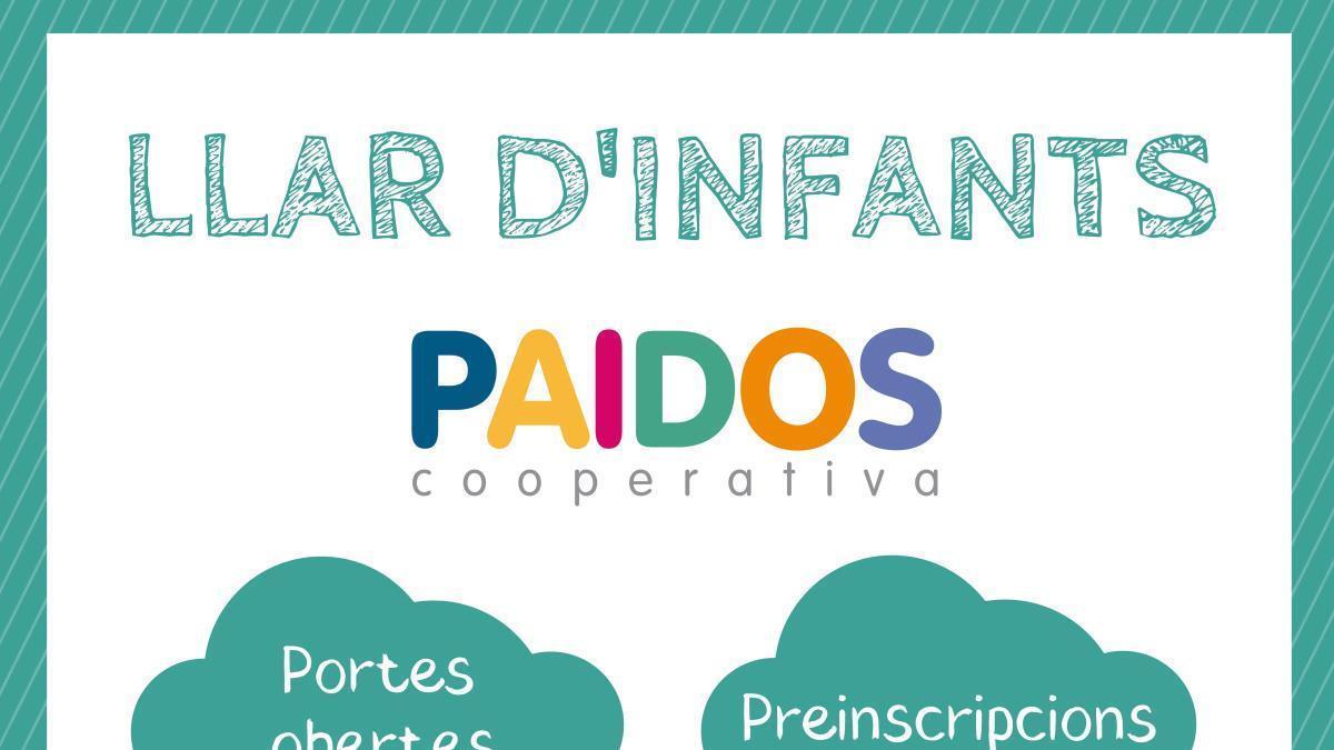 L'Escola Paidos celebra aquest dissabte 15 de maig la Jornada de Portes Obertes de la Llar d'infants